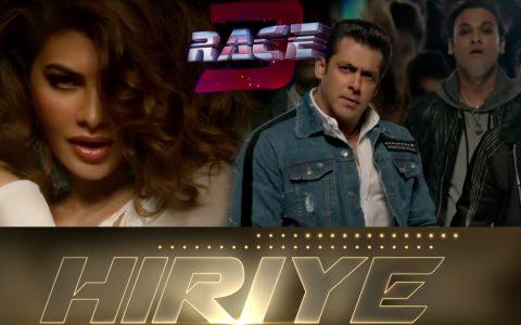 Hiriye,Slaman Khan,Race 3,Jacqueline Fernandez, Hiriye Race 3, Race 3 song