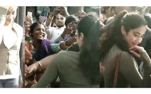 Janhvi Kapoor gets mobbed by street kids outside a restaurant in Mumbai