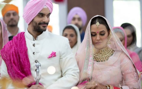 Neha Dhupia and Angad Bedi just married