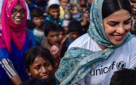 Unicef Goodwill Ambassador Priyanka Chopra visits Rohingya refugee camps