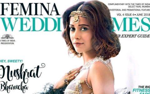 Nushrat Bharucha Graces cover of Femina Wedding Times