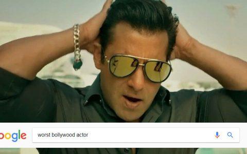 Google Shows Salman Khan as Worst Bollywood Actor