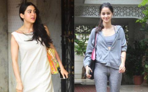 Sara Ali Khan and Ananya Panday Are Working Hard