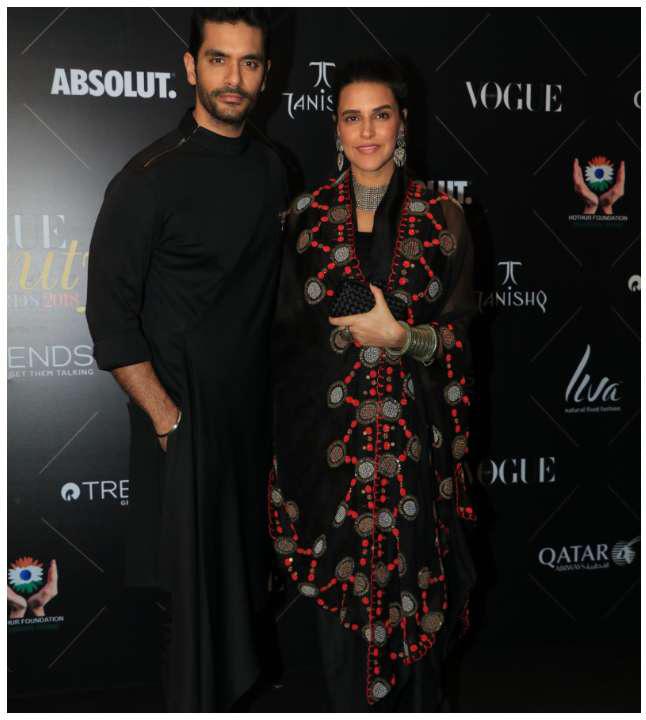 Neha Dhupia Angad Bedi_Vogue Beauty Awards 2018